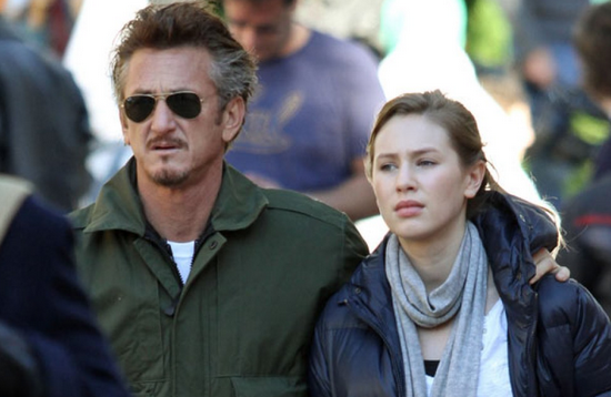 sean penn and girlfriend