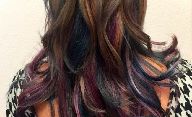 Hair trends shemazing oil slick hair the rainbow trend thats perfect for brunettes solutioingenieria Choice Image