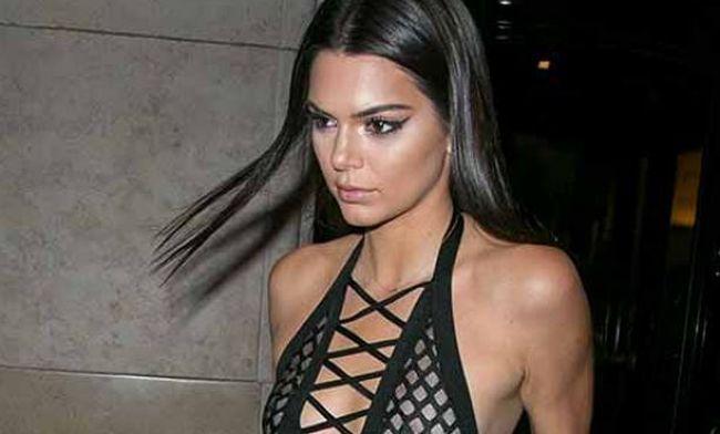 Nip Slip Kendall Jenner Bares All In A Super Sheer