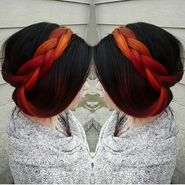 Scared To Try Wacky Hair Colours This Hidden Dye Trend Is For You