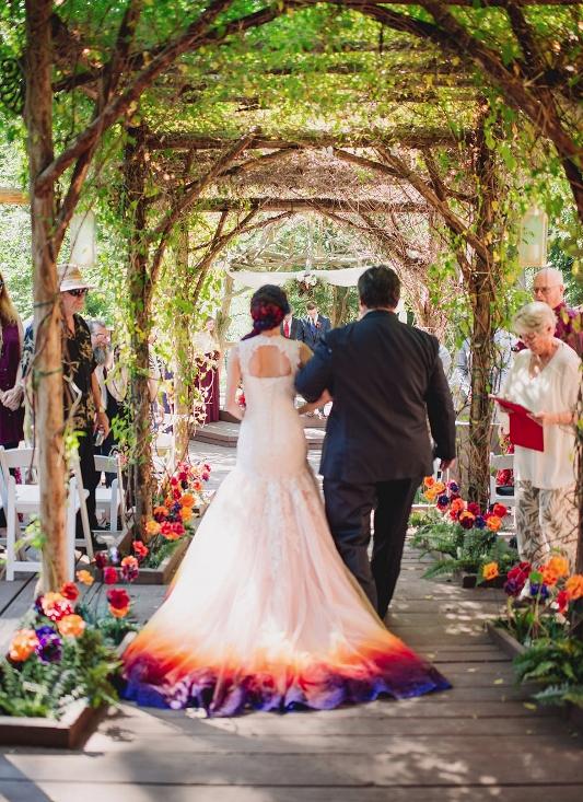 Dip Dyed Bridesmaid Dresses
