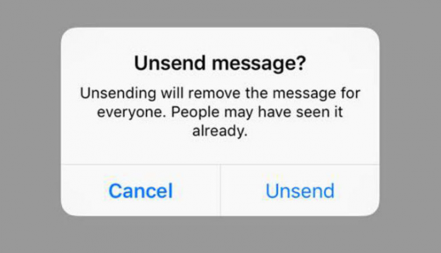 unsending messages on instagram