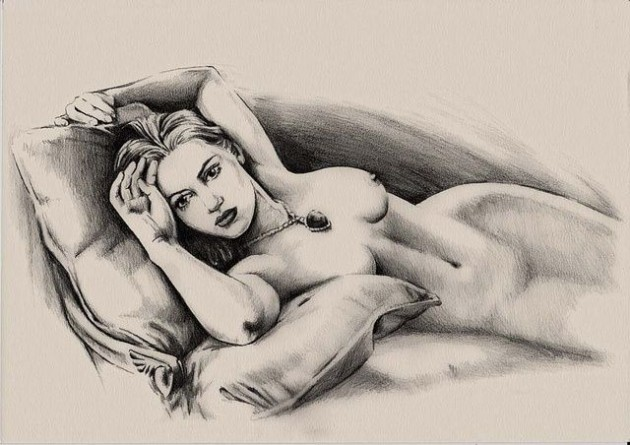 Figure drawing female nude