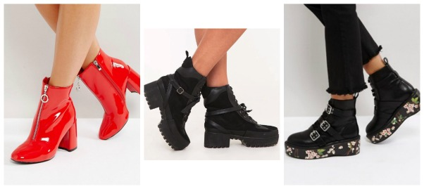 Herr are 10 pairs of boots to suit everyone's styles, all for a fraction of  the price. Lost Ink Red Vinyl Ankle ...