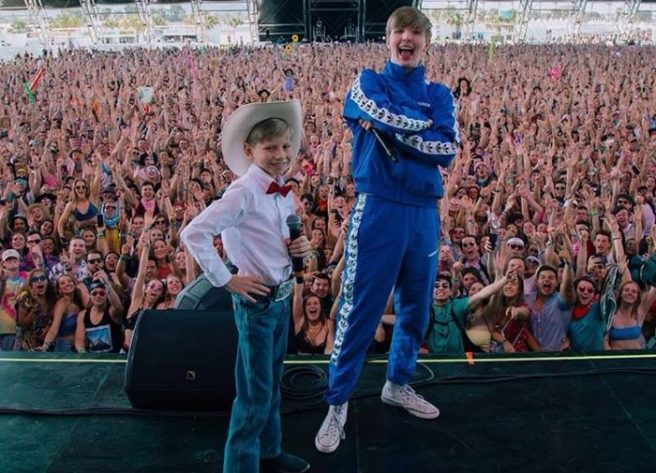Walmart yodeling kid sings at Coachella
