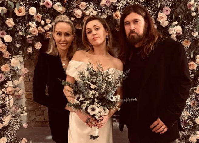 Miley Cyrus Marries Liam Hemsworth in Vivienne Westwood