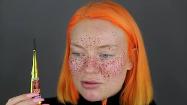 Youtuber S Semi Permanent Henna Freckles Don T Try This At Home
